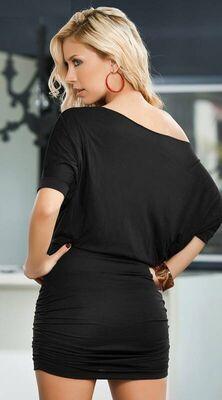 Merry See - Merry See Şık Siyah Mini Elbise MS2944