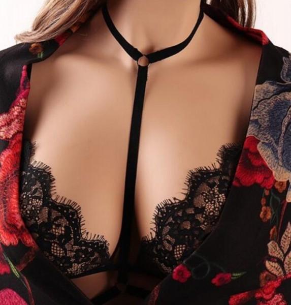Merry See - Merry See Siyah Dantel Bralet Sütyen - MS4328