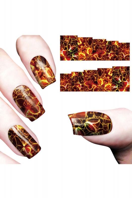 By Yuksel Ozkan - Nail Art Sticker Ateş Çiçeği SAT 8176