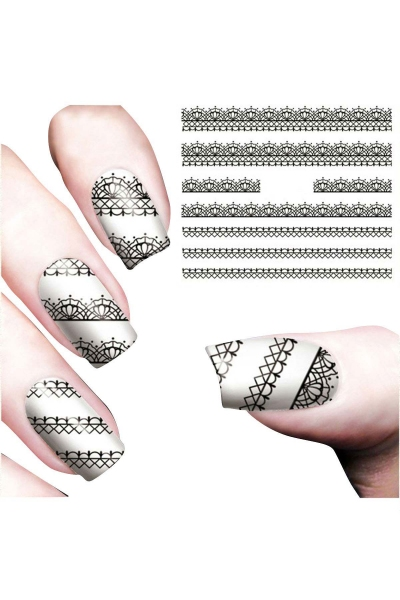 By Yuksel Ozkan - Nail Art Sticker Güpür SAT 7248