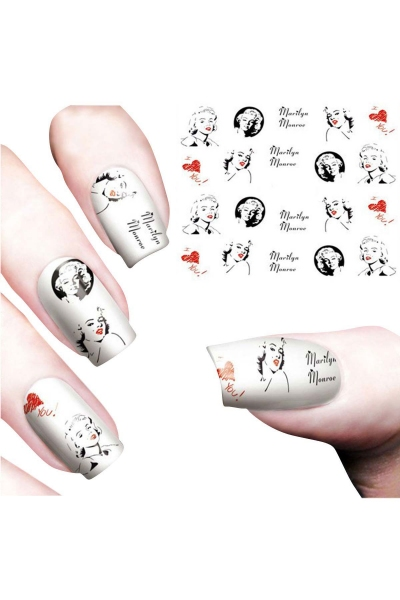 By Yuksel Ozkan - Nail Art Sticker Marilyn Monroe SAT 8482