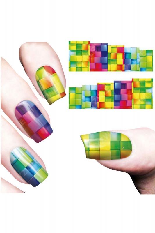 By Yuksel Ozkan - Nail Art Sticker Renkler SAT 8141