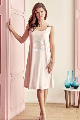 Anıl - Sleeveless Printed Maternity Nightgown 5509