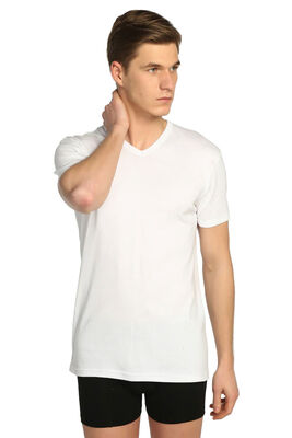 Tutku - Erkek Ribana V Yaka Kısa Kollu T-Shirt 0107