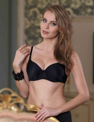 Şahinler - Black Underwired Basic Underwire Bra M9050