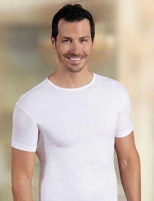 Şahinler - Beyaz Bisiklet Yaka Kısa Kollu Erkek T-Shirt ME068