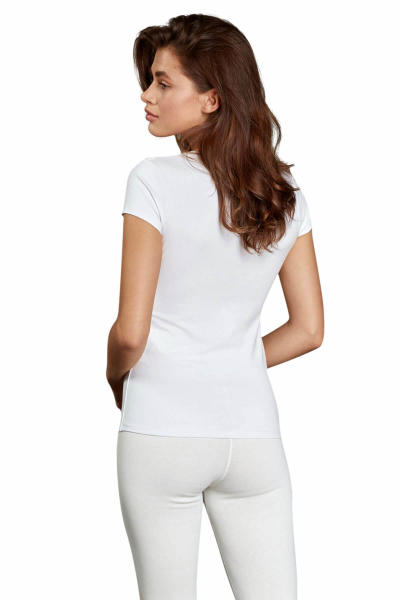 Siyah V Yaka Kısa Kollu Termal T Shirt 8580