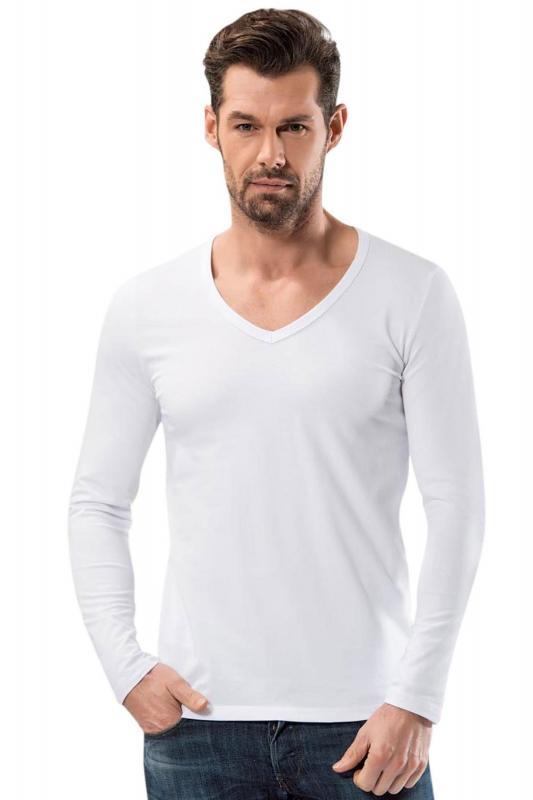 Anıt - V Yaka Uzun Kollu Fit Kalıp T Shirt 1166